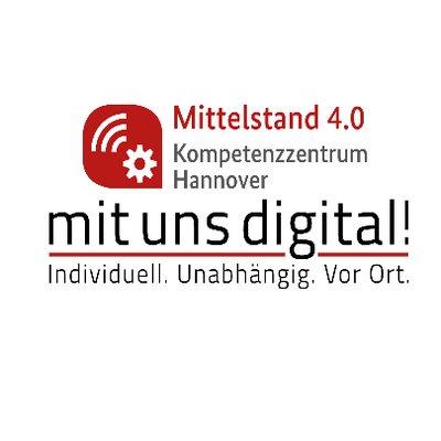 """Das Mittelstand 4.0-Kompetenzzentrum Hannover """"Mit uns digital!"""" macht mittelständische Unternehmen fit für die digitale Zukunft. Dank öffentlicher Förderung sind unsere Agebote für Sie kostenlos."""