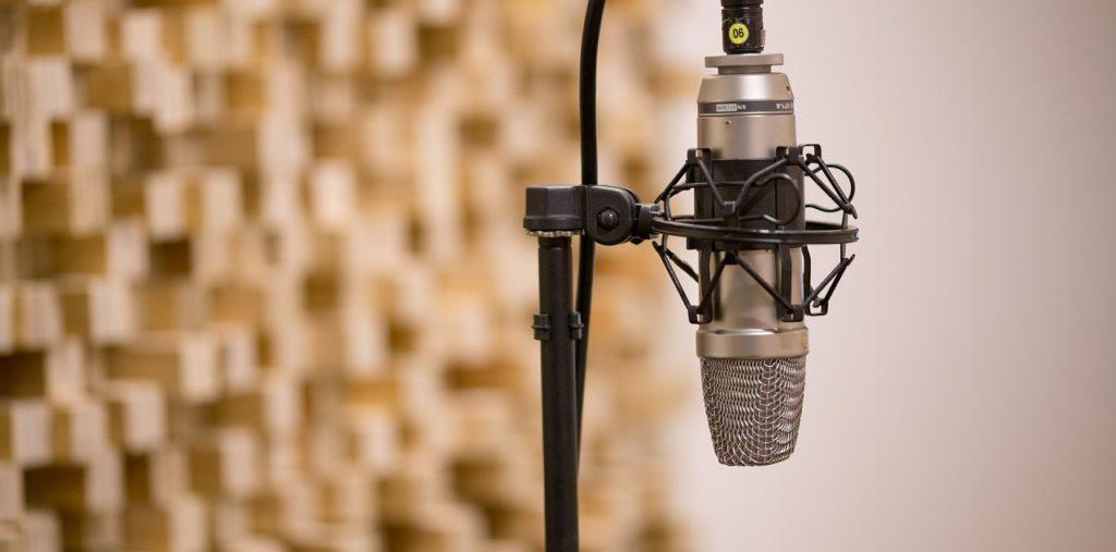 mikrofon an einem ständer