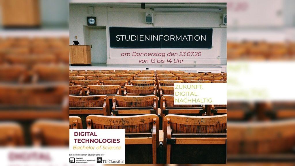 "Digitec studieren: Informationsveranstaltung zum Studiengang ""Digital Technologies"" am 23. Juli"